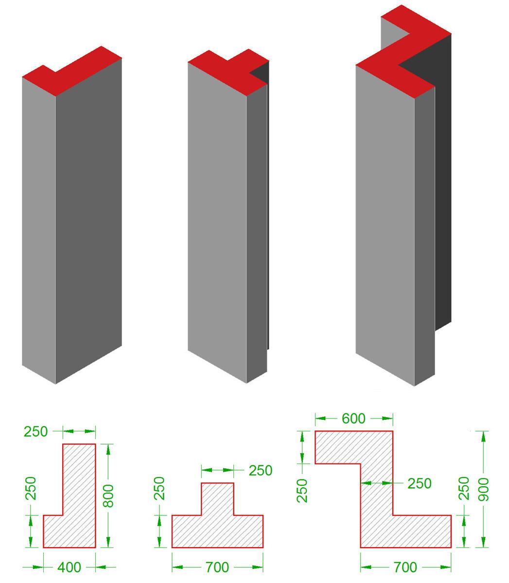 Image result for T shaped column