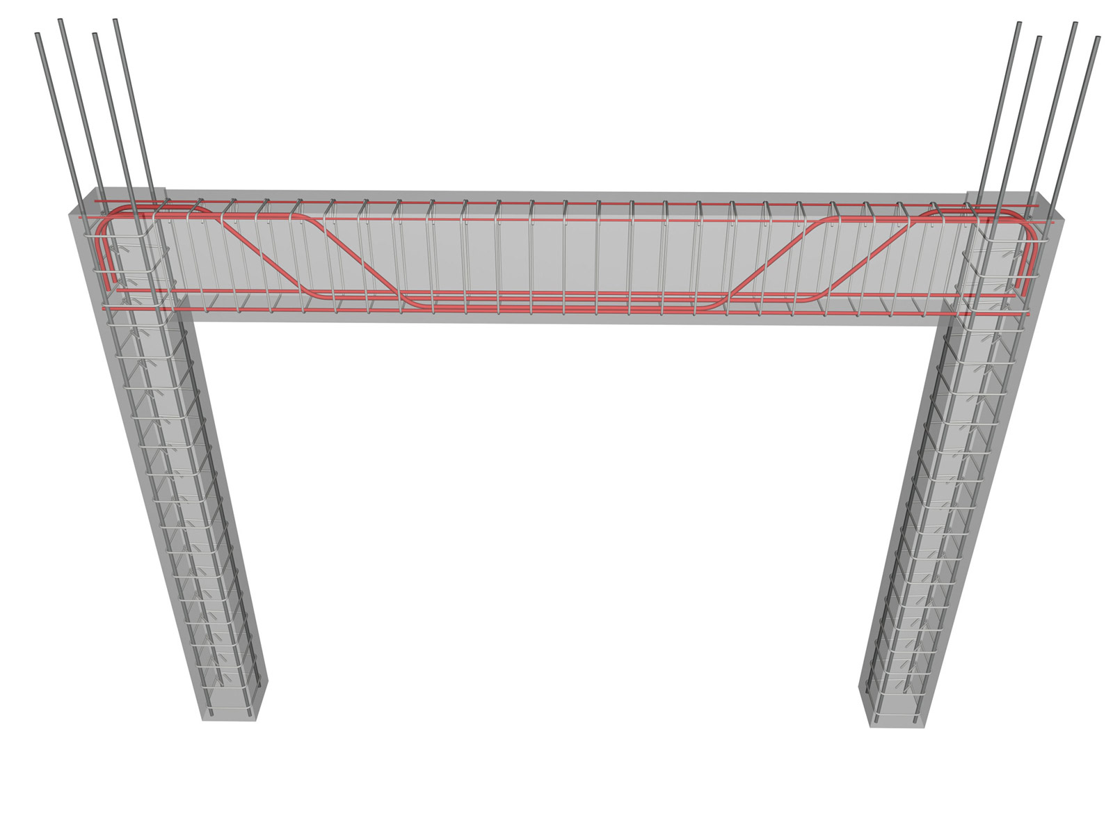 concrete frame construction method