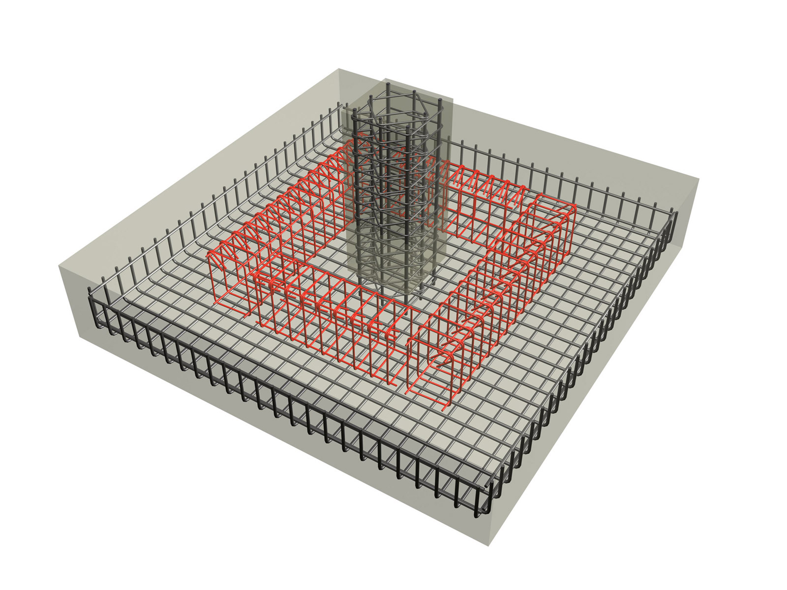 The reinforcement is the same both for flexible and rigid spread ...